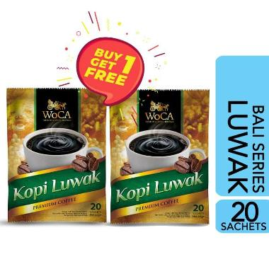 [Buy1Get1]WoCA Kopi Bubuk Luwak Premium 20 Sachets