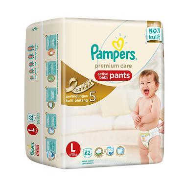 Pampers Popok Celana L-62 Premium Care - Popok Bayi