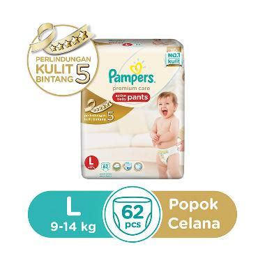 Pampers Popok Celana L-62 Premium Care