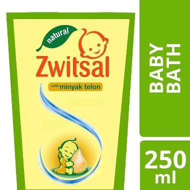 Zwitsal Baby Bath Natural with Minyak Telon 250ml - 67014834