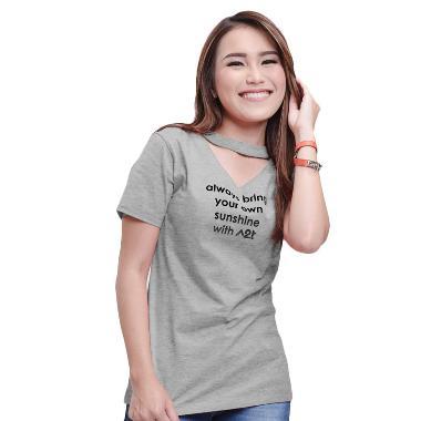 A2T Nesya T-Shirt Atasan Wanita - Grey