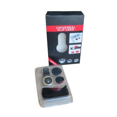 Fisheye Clip Lensa 3 in 1 Universal Lens Clip
