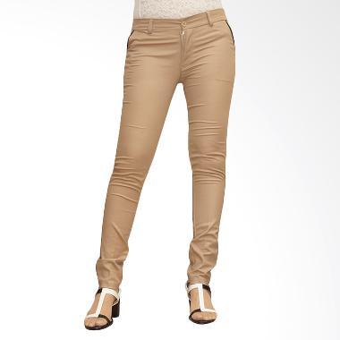 Adore Ladies Chino New Celana Panjang Wanita - Light Brown