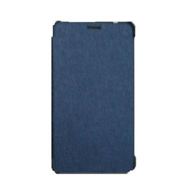 Advan Biru Tua Flip Cover Casing For Vandroid E1C Pro