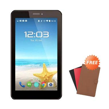 Advan Vandroid E1C Pro Tablet - Hitam [8 GB] + Free Cover Universal