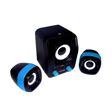 Advance Duo-300 Hitam Biru Speaker USB