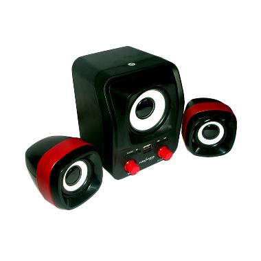 Advance Duo-300 Hitam Merah Speaker USB