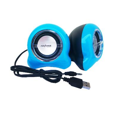 Advance Elfin Biru Speaker Mini USB