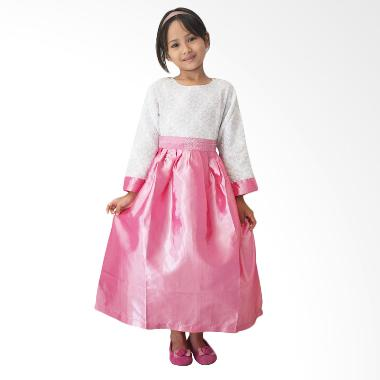 Agemlare Crinkle Dress Anak - Pink Flower