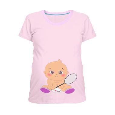 Aidan Badminton Kaos Hamil - Putih