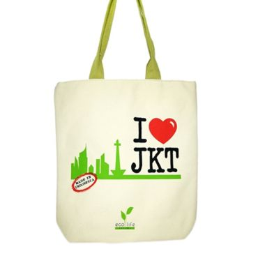 Aigness I love Jkt Canvas Bag