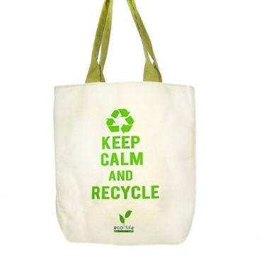 Aigness Keep Calm Canvas Bag        ...