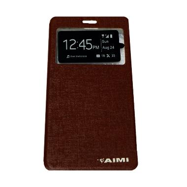 Aimi Flip Cover Casing for Oppo Neo 7 A33W - Coklat