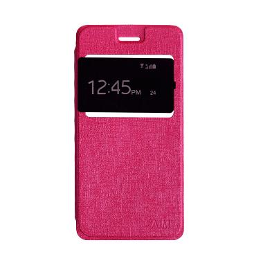 Sarung Flip Cover Casing for Xiaomi Redmi 3s or 3Pro - Pink