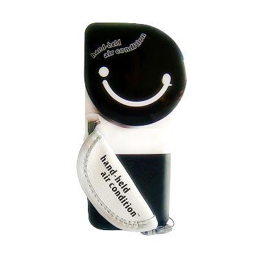 Aimons AC Mini Fan USB Handheld Bladeless AC Genggam - Black