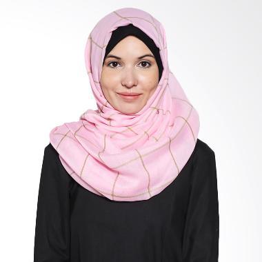 Aira Muslim Butik Rania Poly AB.P.029 Pink Pashmina