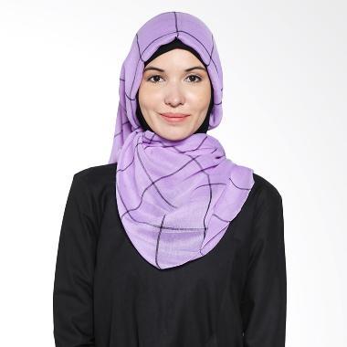 Aira Muslim Butik Rania Poly AB.P.029 Purple Pashmina