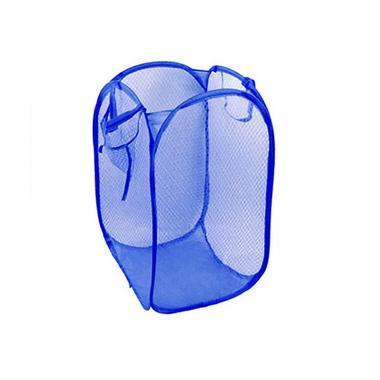 AIUEO Keranjang Baju Kotor Hamper - Biru Tua