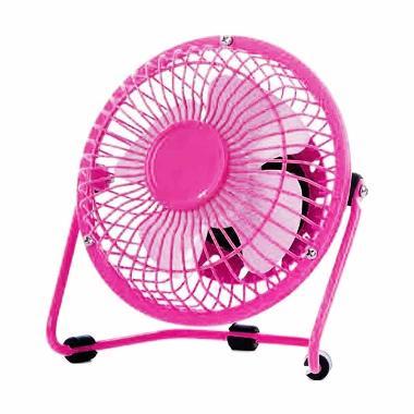 Kipas Angin Meja USB Mini Fan - Pink