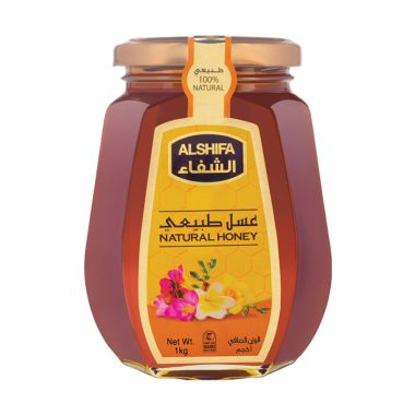 PROMO AL SHIFA HONEY Natural Honey Glass Bottle [1 kg]