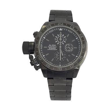 Alba 160308 Chronograph Jam Tangan Pria - Black