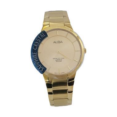 Alba 160780 Analog Jam Tangan Pria - Gold