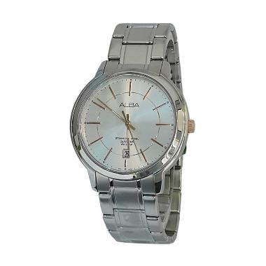 Alba 161078 Analog Model Couple Jam ...  - Silver Kombinasi  Gold