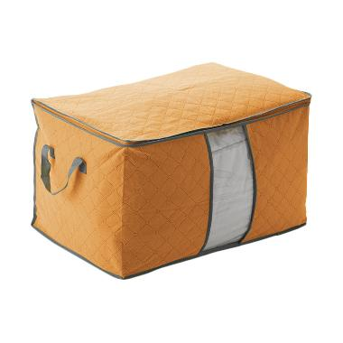 Alena Clothing Storage Bag Bamboo Orange Storage Box Tidur Multifungsi