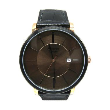 Alexandre Christie AC 8344 MD LBRBO Dial Black Leather Strap