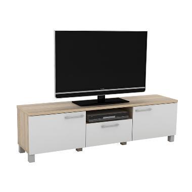 Anya-Living Pico 3 CF Sonoma Oak Putih Rak TV