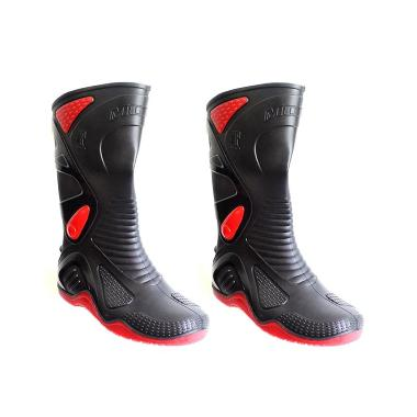 AP Boots Sepatu Pengendara Sepeda Motor Size 42 - Hitam [SEP8006]