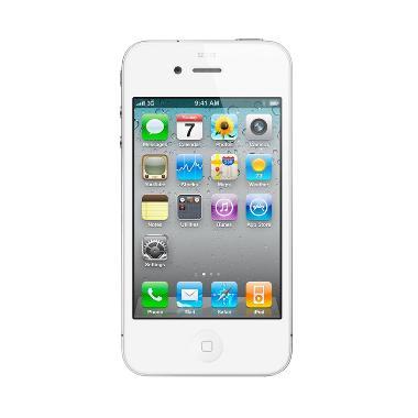 Apple iPhone 4S 64 GB Smartphone - Putih + Free Tempered Glass