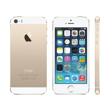 Apple IPhone 5S 16 GB Smartphone Free Softcase - Gold [Garansi Distributor/Refurbished]