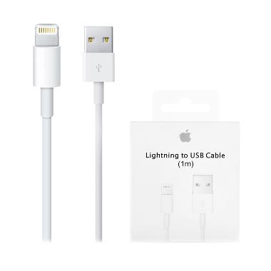 Apple Original Lightning 8 Pin USB  ... for iPhone & iPad - Putih