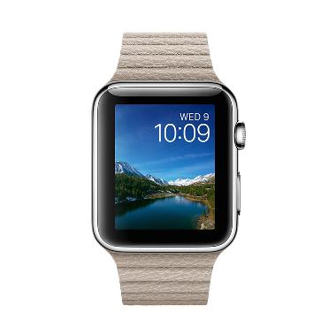 Apple Watch Series 1 Sport Stone Leather Loop Stainless Steel Smartwatch [42 mm/Garansi Resmi/ Band Size L] - MJ442ID/A