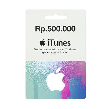 iTunes Gift Card Region Indonesia Rp. 500.000