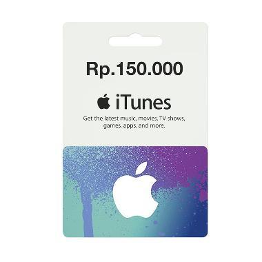 iTunes Gift Card Region Indonesia Rp.150.000 ba195ac95e