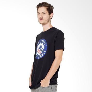 Applecoast Humble Flag T-Shirt Pria - Black Blue