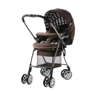 Aprica Air Ria Luxuna Stroller Bayi - Brown