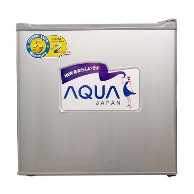 AQUA AQRD50F Silver Kulkas Portable