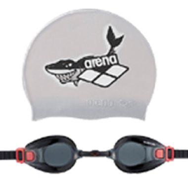 Arena Swim Goggles + Cap Junior SMK ...