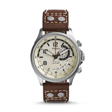 Fossil Recruiter GMT Alarm FS5043 Jam Tangan Pria