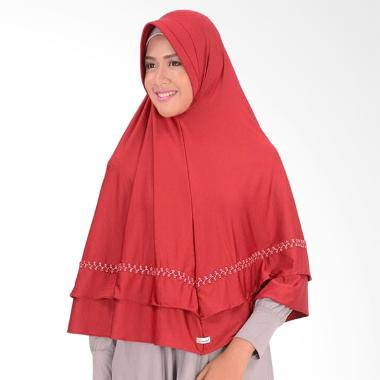 Atteena Hijab Aulia Asoka Kerudung - Merah Hati
