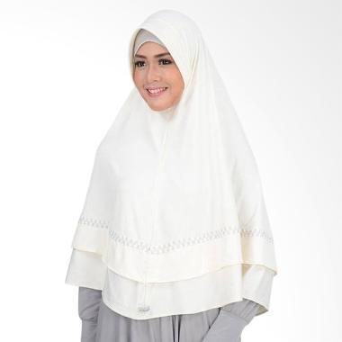 Atteena Hijab Aulia Asoka Kerudung - Putih Tulang