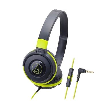 Audio Technica ATH-S100iS Headset - Black Green [EX]