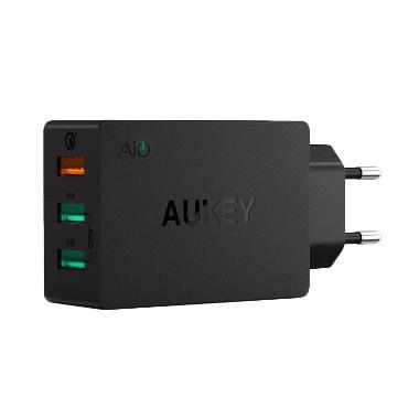 harga AUKEY PA-T14 Original 3 USB port Qualcomm Quick Charger Blibli.com
