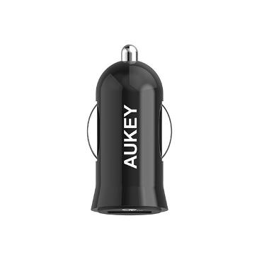 AUKEY CC-T10 Qualcomm Quick Charge 3.0 Car Charger - Hitam [19.5 W]