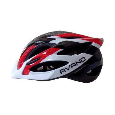 Avand A06 Helm Sepeda - Merah Putih Hitam