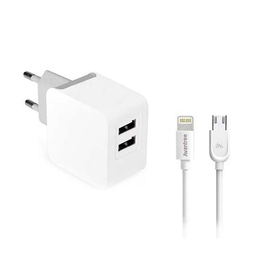 Avantree CGST-20 Wall Charger Kit w ... ghtning Cable [3.1 A/MFI]
