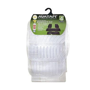 Avatar 3 Baris Tipis Nyambung Karpet Mobil - Transparan Bening